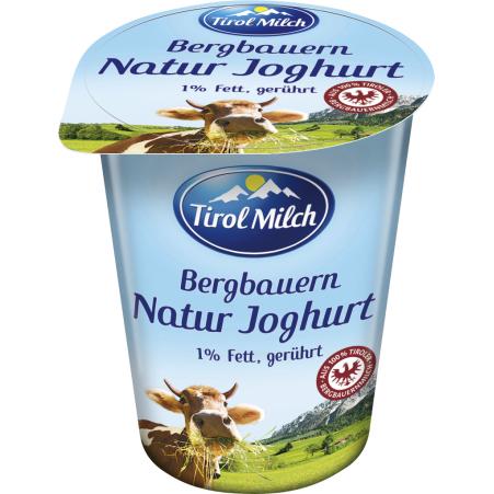 Tirol Milch Bergbauern Naturjoghurt 1,0% gerührt 250 gr