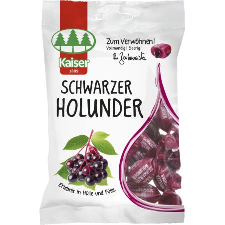 Bonbonmeister Kaiser Fruchtbonbons Schwarzer Holunder