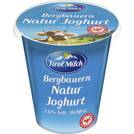 Tirol Milch Bergbauern Naturjoghurt 3,6% stichfest 500 gr