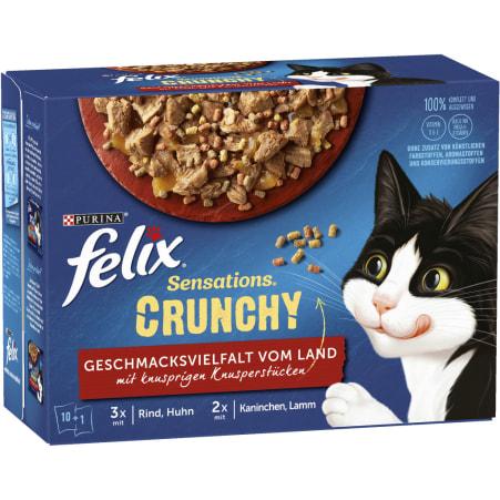 PURINA Felix Sensations Crunchy Geschmacksvielfalt 10x 85 gr