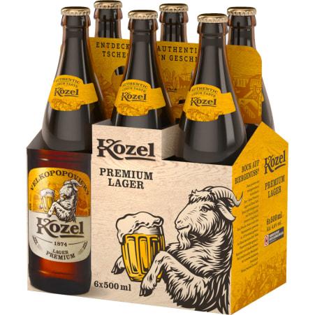 Kozel Premium Tray 6x 0,5 Liter Mehrweg-Flasche