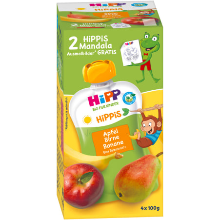 HiPP Hippis Apfel-Birne-Banane 4er-Packung