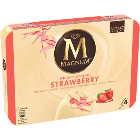 Magnum Magnum Strawberry White 4er-Packung