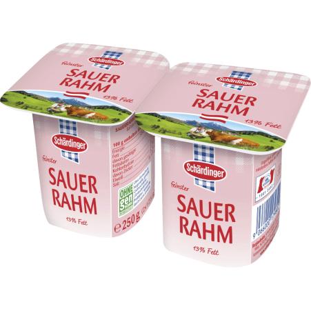 Schärdinger Sauerrahm 13% 2er-Packung