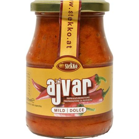 Stekko Ajvar Paprikazubereitung mild