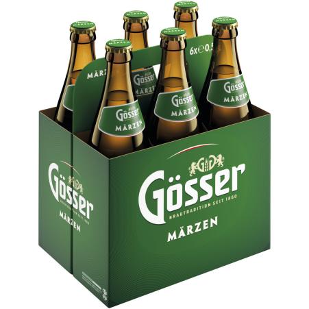 GOESSER Märzen Bier Tray 6x 0,5 Liter Mehrweg-Flasche