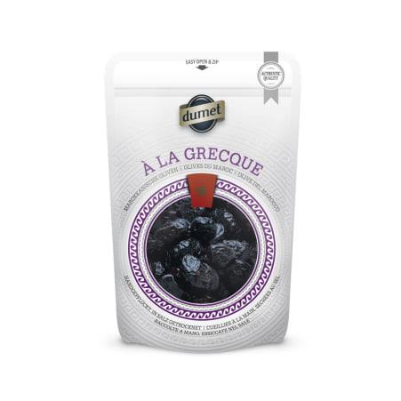 Dumet Oliven a la Grecque schwarz mit Stein