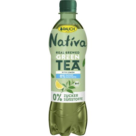 Rauch Nativa Green Tea Lemon 0,5 Liter