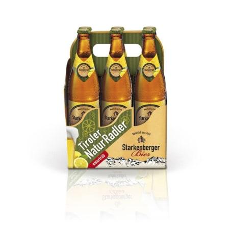 Starkenberger Bier Tiroler Naturradler Tray 6x 0,5 Liter Mehrweg-Flasche