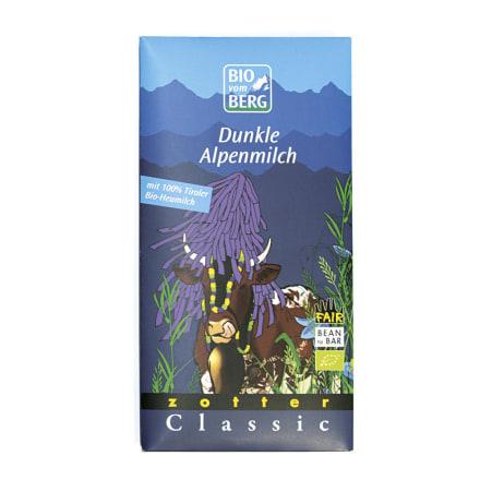 BIO vom BERG Bio Schokolade Dunkle Alpenmilch