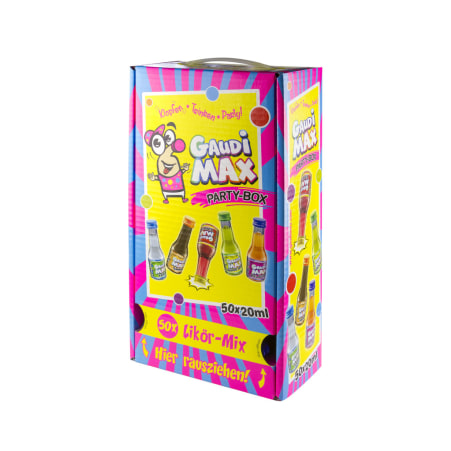 Gaudi-Max Party-Box 20% 50x 0,02 Liter