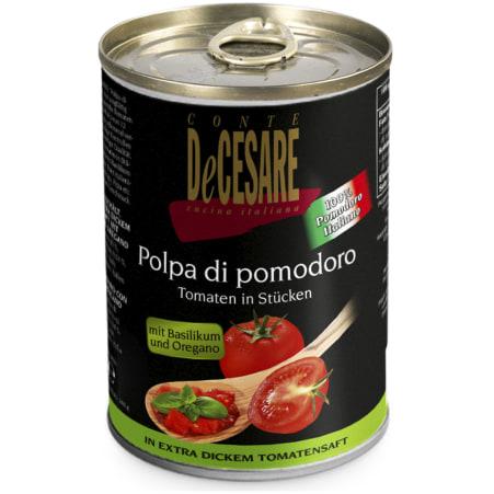 CONTE DeCESARE Tomatenstücke Basilikum-Oregano