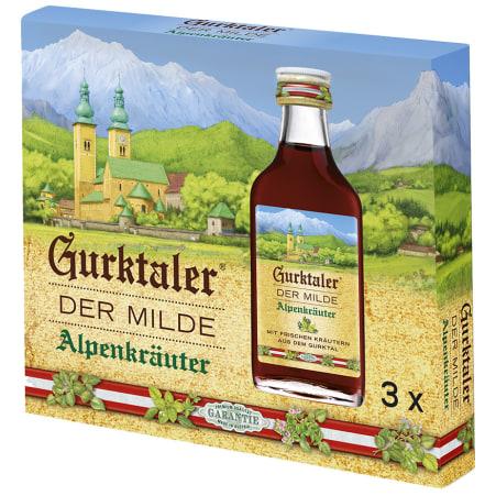 Gurktaler Alpenkräuter 27% 3x 0,02 Liter