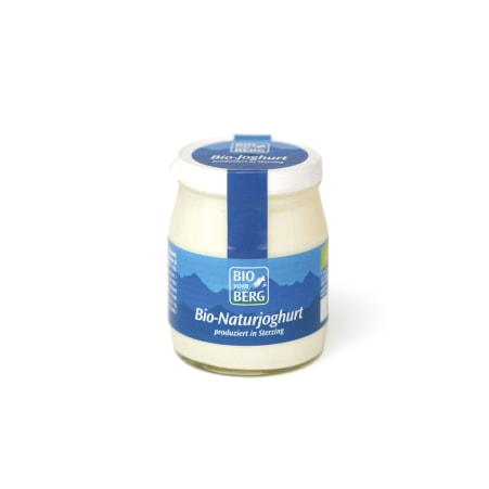BIO vom BERG Bio Naturjoghurt 3,8% Glas