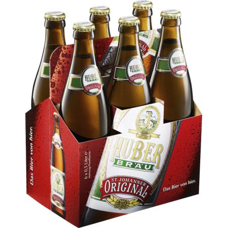 Huber Märzen Tray 6x 0,5 Liter Mehrweg-Flasche