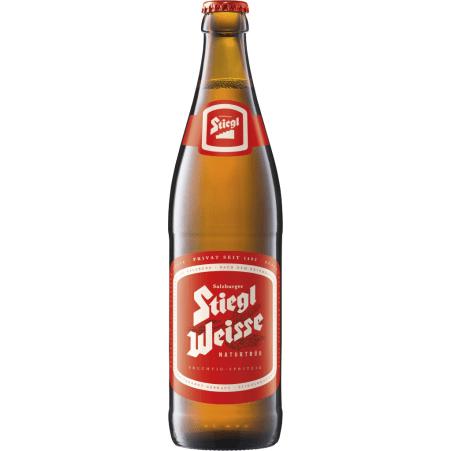 Stiegl Weiße naturtrüb 0,5 Liter Mehrweg-Flasche