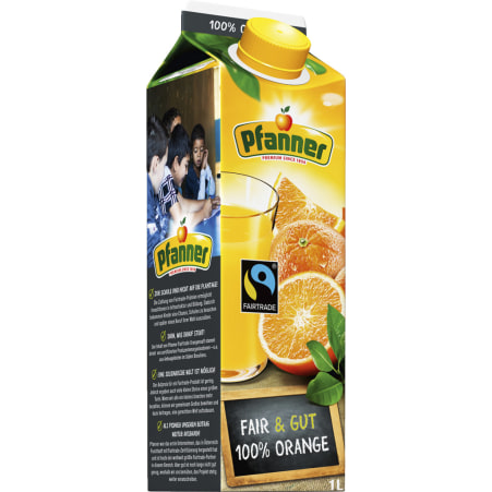 Pfanner 100% Orange Fairtrade 1,0 Liter