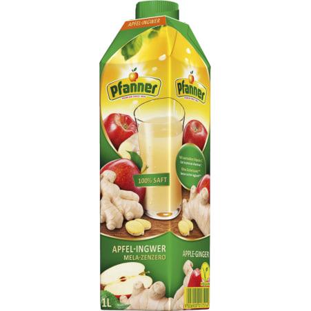 Pfanner Apfel-Ingwersaft 100% 1,0 Liter