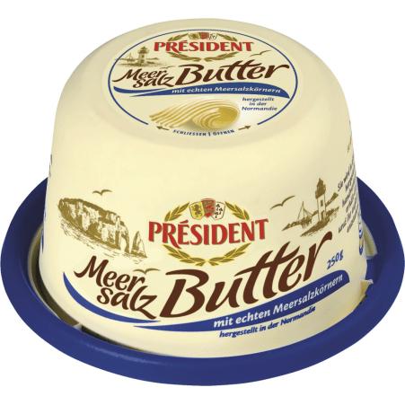 President Butter mit Meersalz