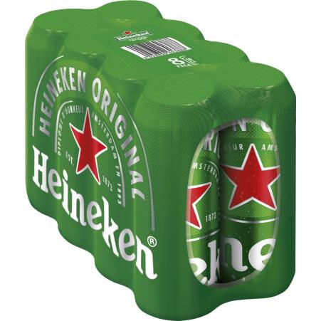 Heineken Bier Dose Tray 8x 0,5 Liter