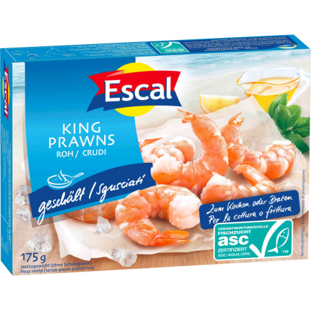 Escal King Prawns roh geschält