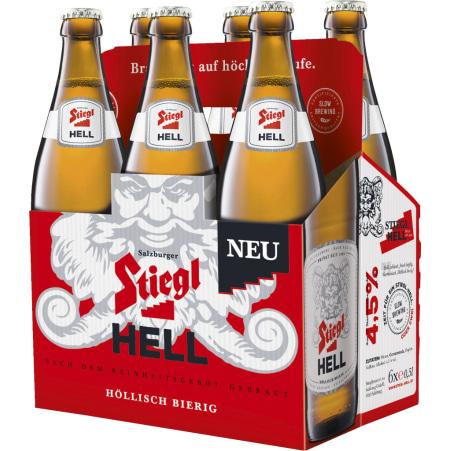 Stiegl Hell Tray 6x 0,5 Liter Mehrweg-Flasche