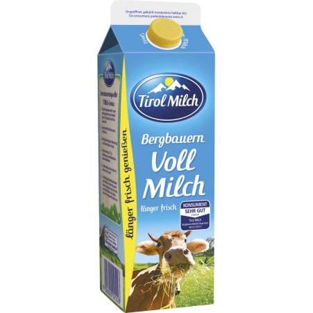 Tirol Milch Bergbauern Vollmilch länger frisch 3,5%