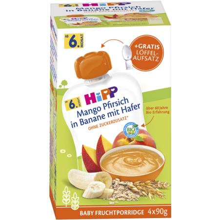 HiPP Bio Beutel Frucht-Porridge 4er-Packung