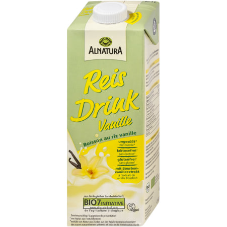 Alnatura Bio Reis Drink Vanille 1,0 Liter