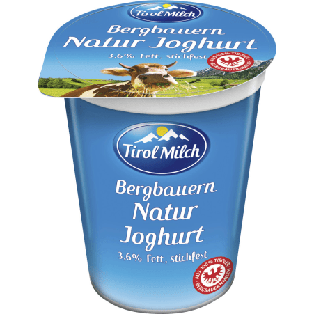 Tirol Milch Bergbauern Naturjoghurt 3,6% stichfest 250 gr