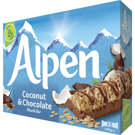 Alpen Kokosnuss & Schokoladenriegel