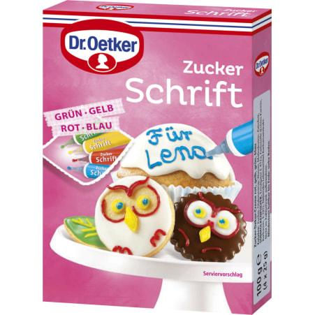 Dr. Oetker Zuckerschrift 4 Farben