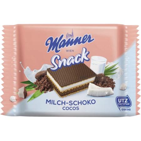 Manner Waffeln Milch-Schoko Cocos 4er-Packung