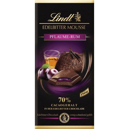 Lindt&Sprüngli Schokolade Edelbitter Mousse Pflaume-Rum
