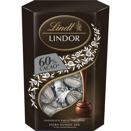 Lindt&Sprüngli Lindor Kugeln Extra Dark 60%