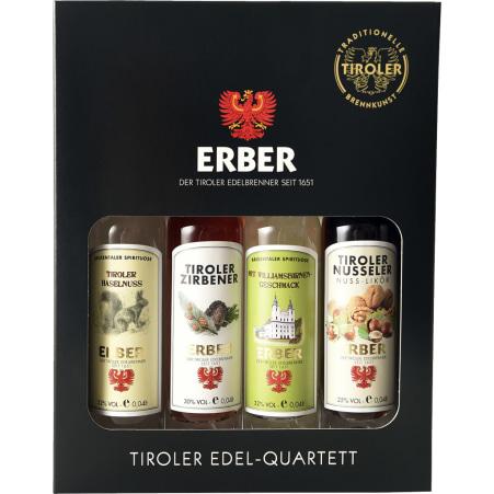 Erber - Der Tiroler Edelbrenner Edel Quartett 4x 0,04 Liter