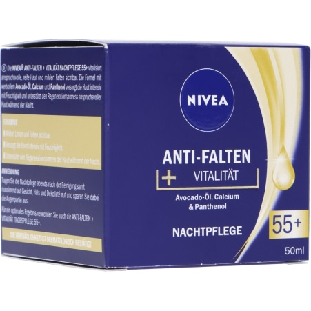 NIVEA Nachtcreme Anti Falten 55+