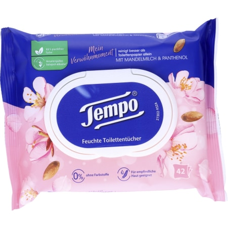 TEMPO Feuchte Toilettentücher Mandelmilch