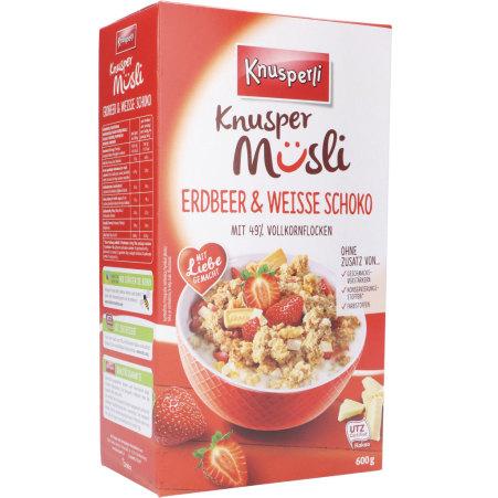 KNUSPERLI Knuspermüsli Erdbeer & Weiße Schokolade