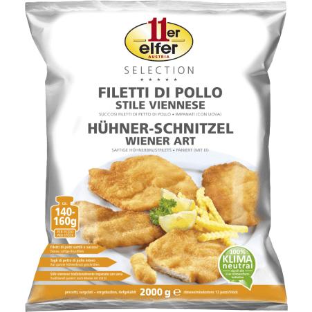 11er Selection Hühner- Schnitzel- Wiener