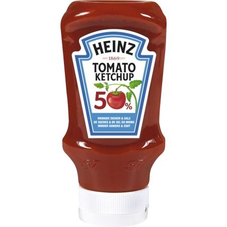 Heinz Tomato Ketchup mit 50% weniger Zucker und Salz