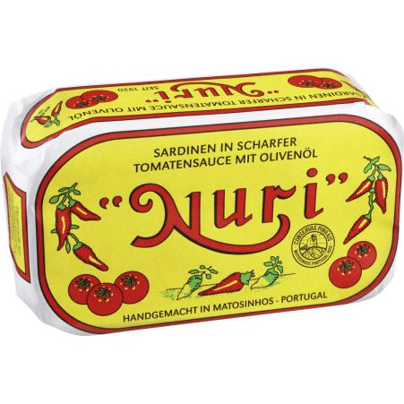 NURI Sardinen in scharfer Tomatensauce