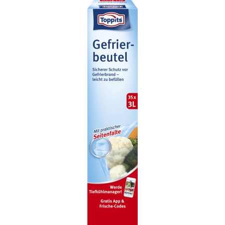 TOPPITS Gefrierbeutel 3,0 Liter
