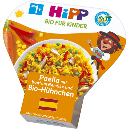 HiPP Bio Teller Paella-Gemüse-Hühnchen 12. Monat