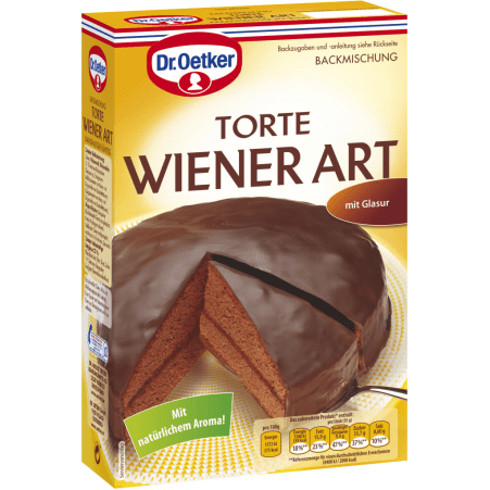 Dr. Oetker Backmischung Schoko Torte Wiener Art