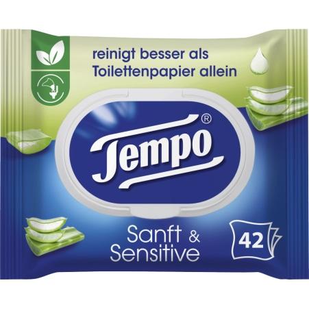 TEMPO Feuchte Toilettentücher sanft und sensitiv