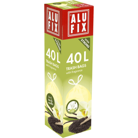 AluFix Duft Müllsäcke 40 Liter Tee & Vanille