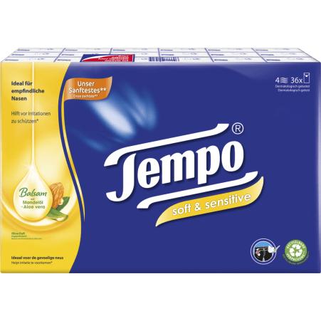 TEMPO Taschentücher Plus 36x 9 Stück 4-lagig
