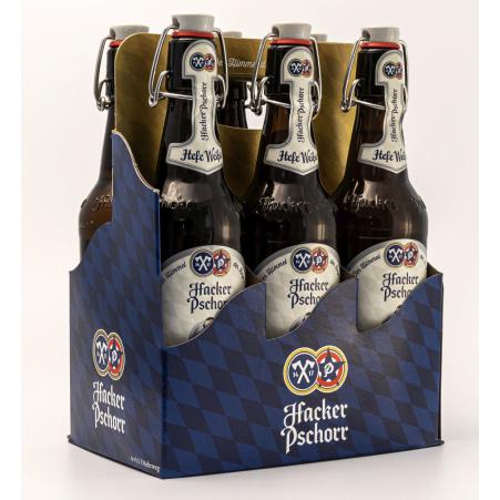 Hacker-Pschorr Weizen Tray 6x 0,5 Liter Mehrweg-Flasche