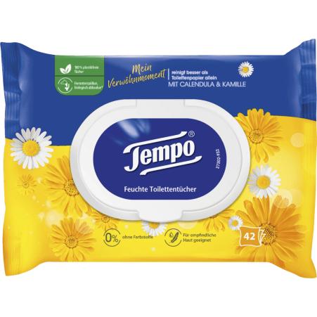 TEMPO Feuchte Toilettentücher Calendular-Kamille